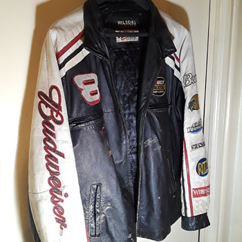 Dale Earnheart Jr./Budweiser NASCAR themed leather jacket - Breweriana