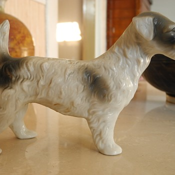 Antique German? porcelain  Russell ? Terrier . - Animals