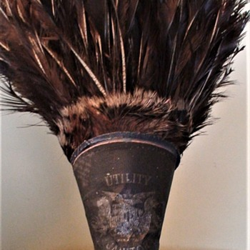"""Utility Janitor"" Turkey Feather Duster"