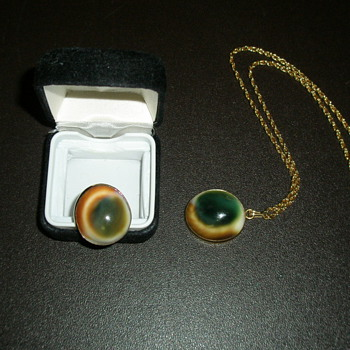 My Mother's Cat Eye Ring and Necklace