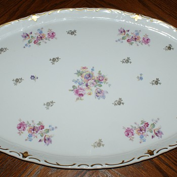 Large Vintage Tray made in East Germany - China and Dinnerware