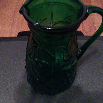 This pitcher I found with a previous piece I posted - Art Glass