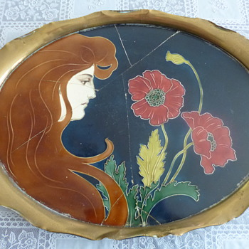 Art Nouveau Ceramics By Carl Sigfrid Luber - Tiled Tray - Art Nouveau