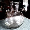 Huge Clear Glass Vase/ Asian Form with Thick Heavy Base/ Unknown Maker and Age