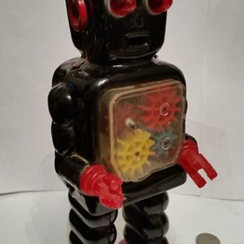 1950's/60's Japan Windup Gear Robot !!! - Toys