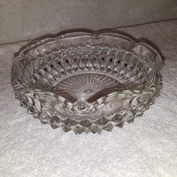 another little pressed glass bowl/ashtray - Glassware