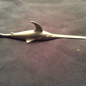 Cool but goofy marlin letter opener - Animals