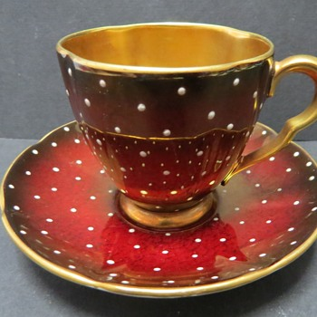 Carlton Ware Rouge Royale Cup and saucer - China and Dinnerware