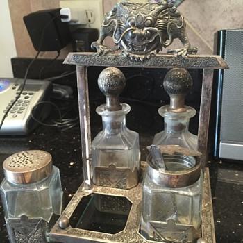 silver cruet - Kitchen