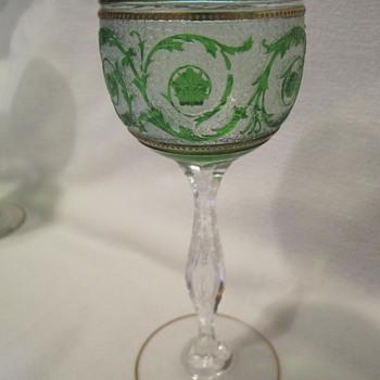 Czech Hock Set - Art Glass