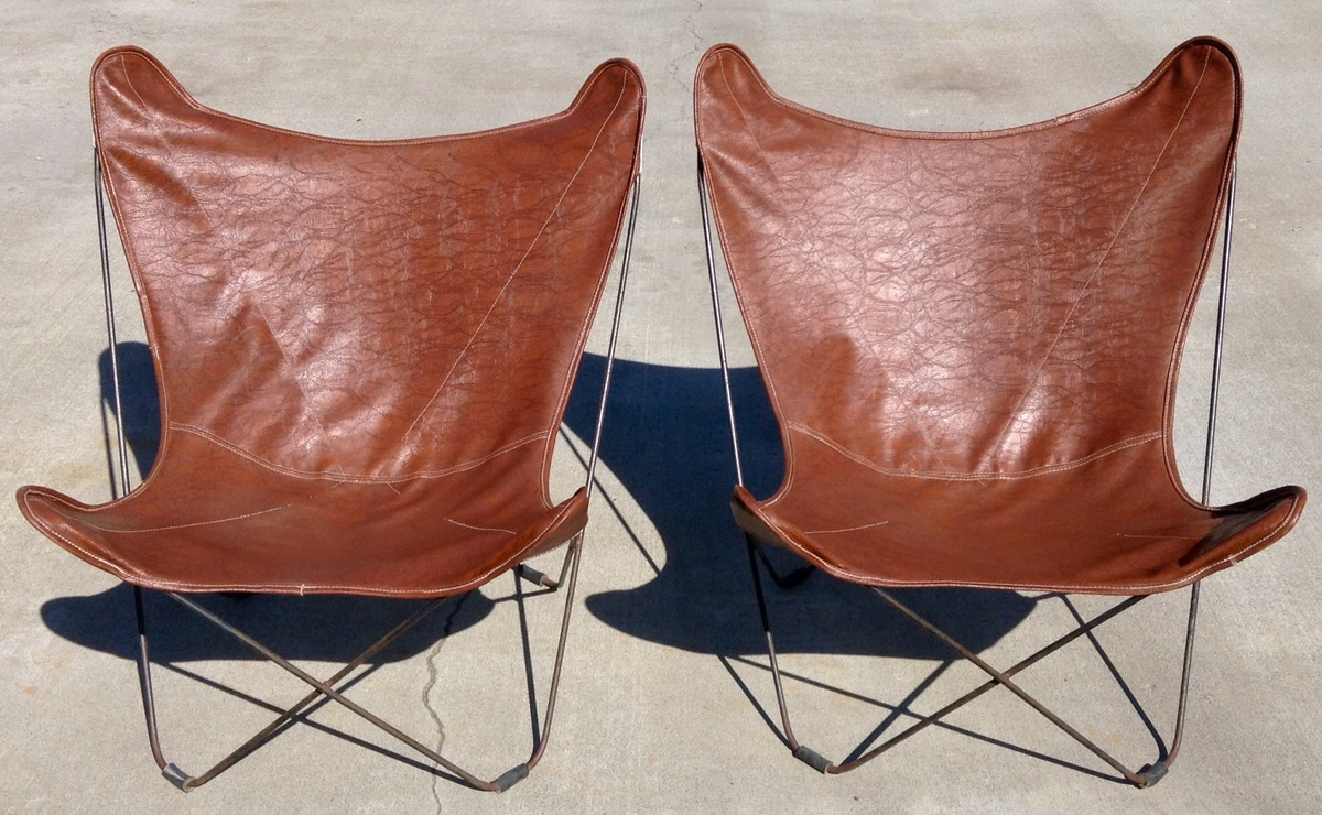 Gentil Pair Of Original 1940u0027s Knoll Hardoy (Butterfly) Chairs | Collectors Weekly