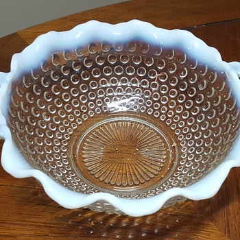 2 Handled Round Crimped Bowl