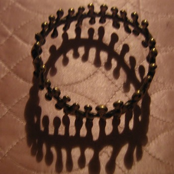 Brutalist bracelet and ring - Costume Jewelry
