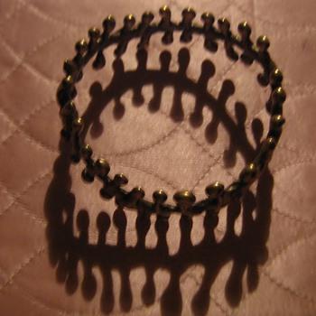 Brutalist bracelet and ring