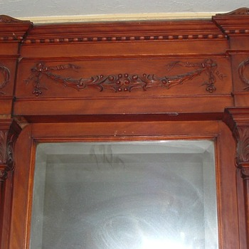 Very large 9' Architecural Entryway Mirror