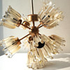 sputnik chandelier with glass tulps