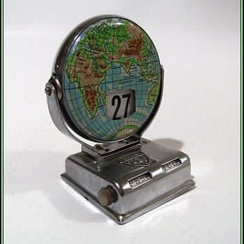 Vintage Perpetual Flip Calendar - Metal - Map - Office