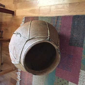 Primitive Native American Storage Vessel - Pottery