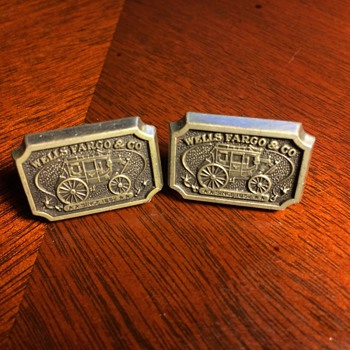 Bank Logo Cufflinks from Wells Fargo, Bank of America & Chase - Accessories