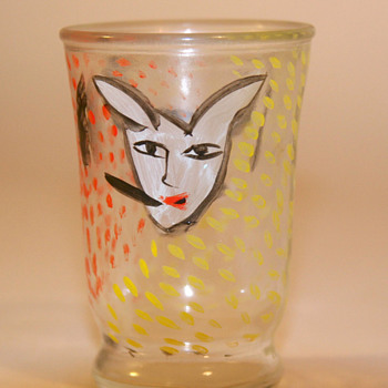 Ulrica Hydman-Vallien shot glass - Art Glass