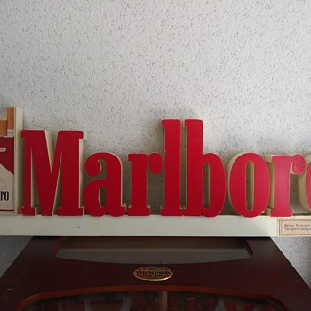 Marlboro Advertisment Sign - Tobacciana