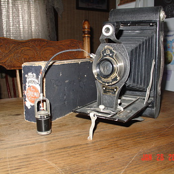 1910 Eastman Kodak Camera with Self Timer Attachment - Cameras
