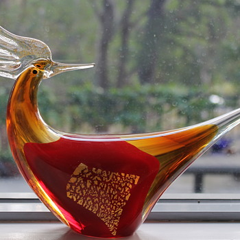 Golden pheasant from Multi Glass Japan - Art Glass