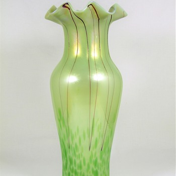 Pallme Konig art glass vase ca. 1900-05 - Art Glass