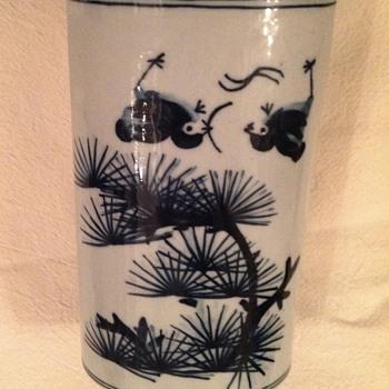 Chinese blue vase  - Asian