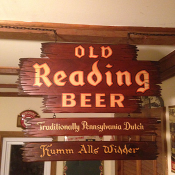 Old Reading Beer Sign - Breweriana