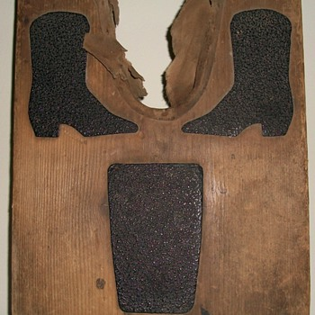Unusual Bootjack (With Asphalt) for Cowboy Boots Collection Jim Linderman - Folk Art