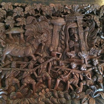 Bali Mythical Beasts Carving - Fine Art