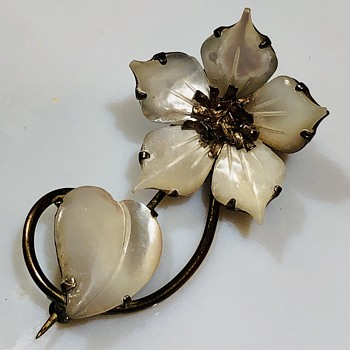 "Mystery Vintage brooch marked ""sterling"" - Costume Jewelry"