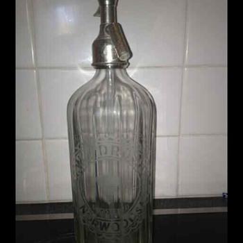 Woodroofe glass bottle syphon  - Bottles
