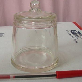 Vintage Jelly Glass Container