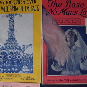 WW1 Small Editions, Paper Saving Editions Used By Publishers During WW1.Some collect these. - Music Memorabilia