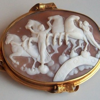 Wonderful cameo of horses of light - Victorian Era