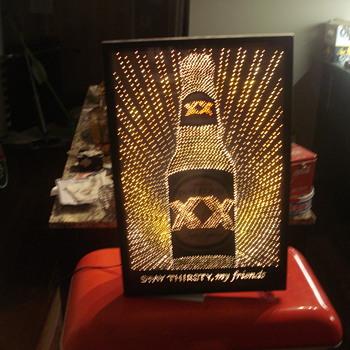 Dos Equis 3-D sign, Dos Equis Mirror & Dos Equis Bar Draft Tower