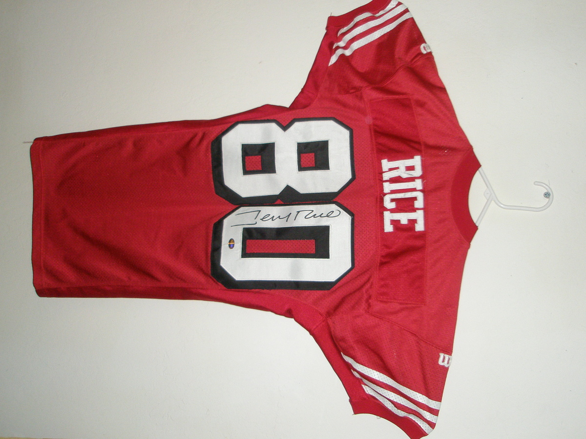 big sale 19320 97456 1994 Game Used Jerry Rice Jersey | Collectors Weekly