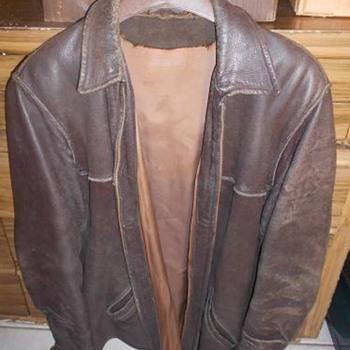 Vintage - 60's/70's Men's Leather Jacket with Talon Zipper -  - Mens Clothing