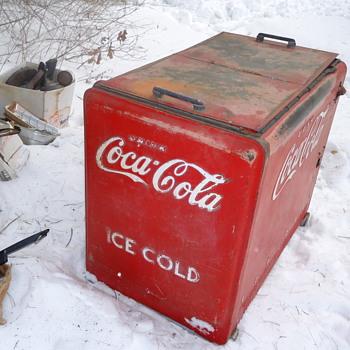 vintage coca cola refrigerator - Coca-Cola