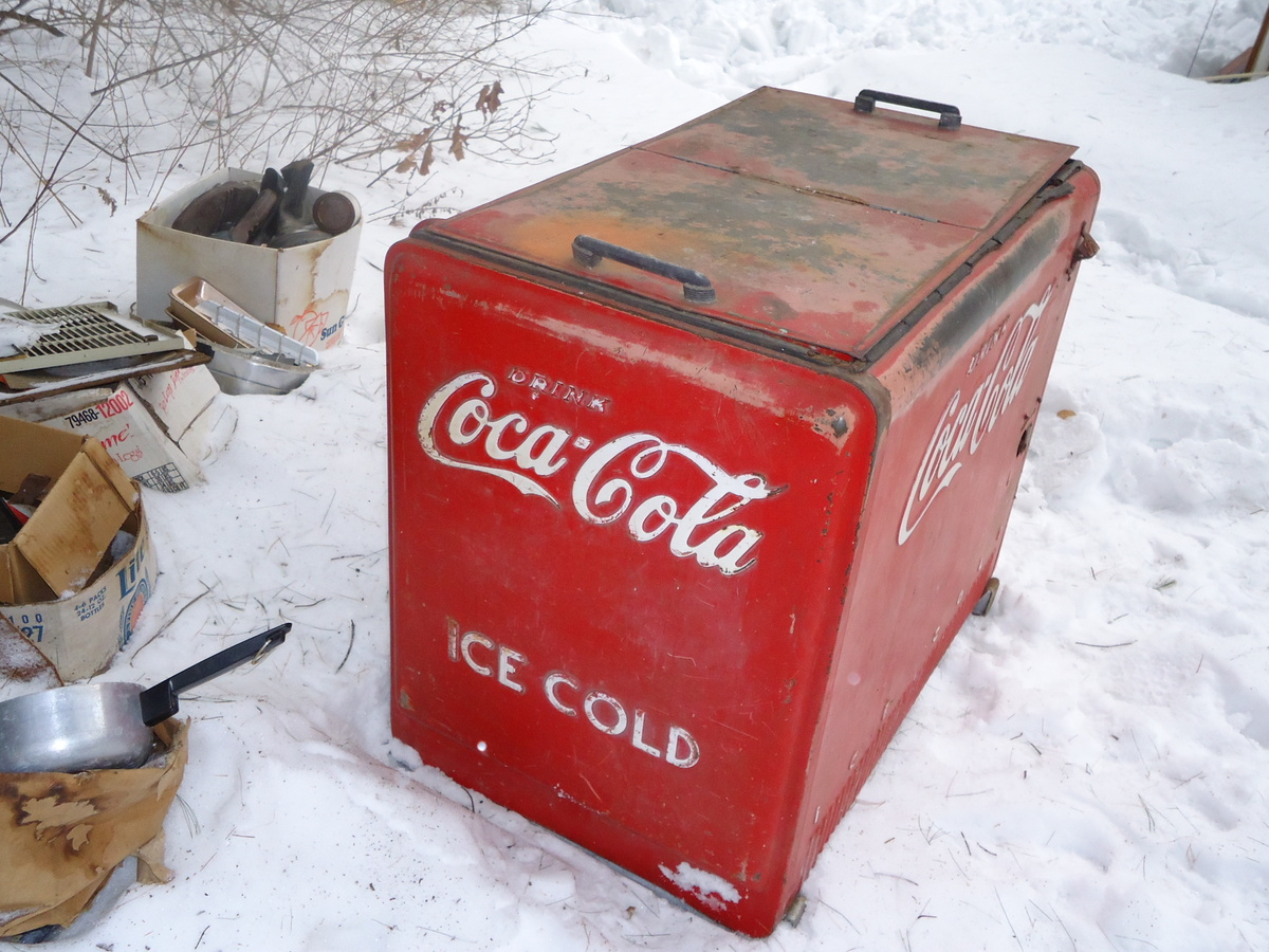 Nice Old Large Store Coca Cola Cooler   Collectors Weekly  Old Coca Cola Coolers