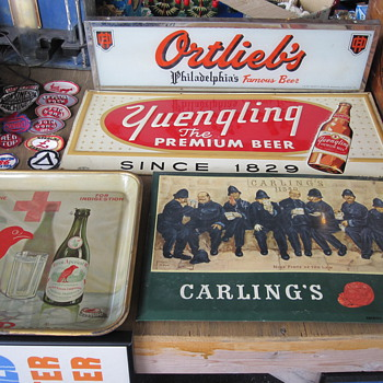 Pennsylvania Beer Signs - Yuengling and Ortliebs - Breweriana