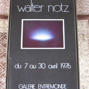 Exibition Poster for Walter Notz Sculptor