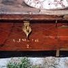 old leather trunk