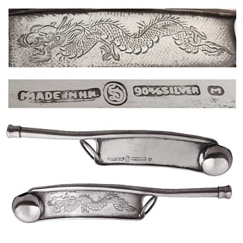 Chinese Silver Dragon Boatswains Whistles