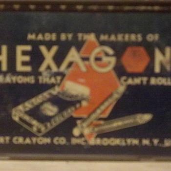Old Crayon Tin  - Advertising