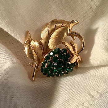 Trifari Strawberry Brooch - Costume Jewelry
