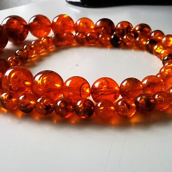 Vintage Faux Amber Necklace For $0.00 - Costume Jewelry