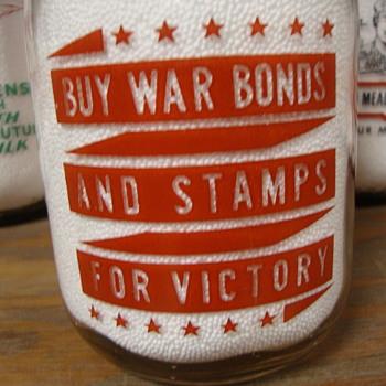 KRISTOFERSON DAIRY...WAR SLOGAN MILK BOTTLE - Bottles
